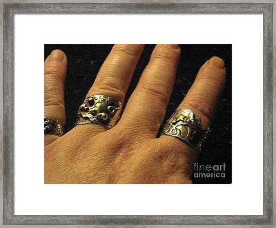 Sterling Silver Gold Mixed Metal Art Jewelry Framed Print by Lois Picasso