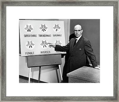 Stern Lectures On Intersex Genetics Framed Print by American Philosophical Society