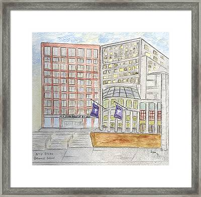 Nyu Stern School Of Business Framed Print
