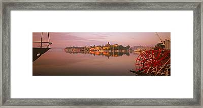 Sternwheeler In A River, Skeppsholmen Framed Print
