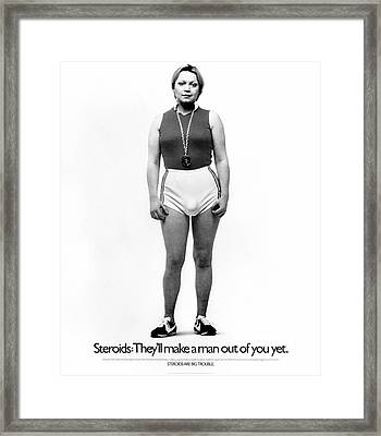 Steroid Abuse Poster Framed Print by Food & Drug Administration