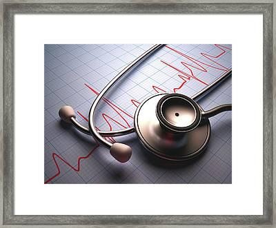 Stethoscope Framed Print by Ktsdesign