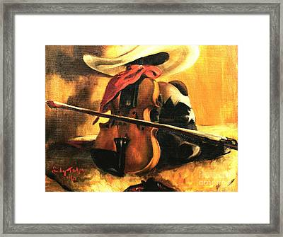 Stetson - Fiddle - Boots  Framed Print