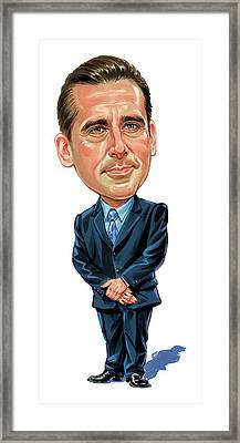 Steve Carrell As Michael Scott Framed Print by Art