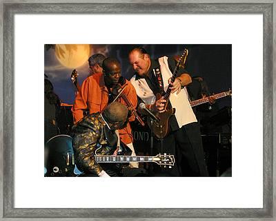 Steve Cropper And B.b. King Framed Print