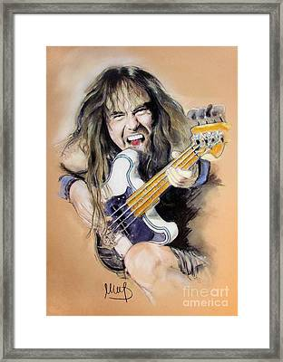 Steve Harris Framed Print by Melanie D