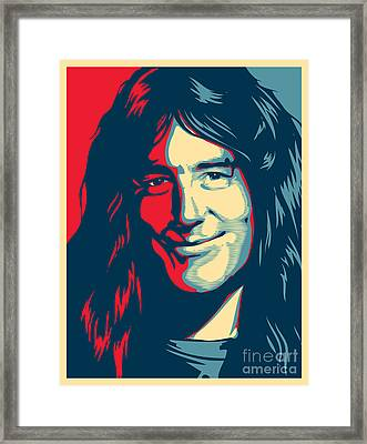 Steve Harris Framed Print by Caio Caldas