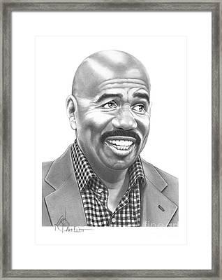 Steve Harvey Framed Print by Murphy Elliott