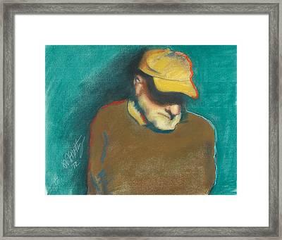 Steve In Thought Framed Print