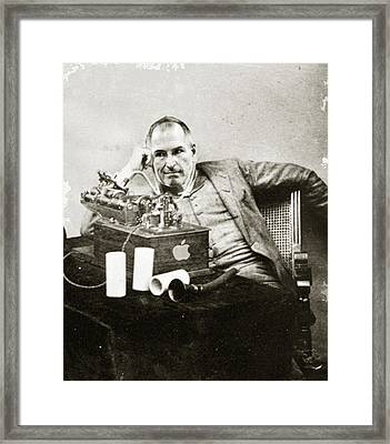 Steve Jobs As Edison Framed Print by Tony Rubino