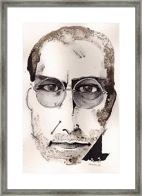 Steve Jobs As The Innovator Framed Print by Mark M  Mellon