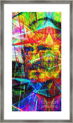 Steve Jobs Ghost In The Machine 20130618 Long Framed Print by Wingsdomain Art and Photography