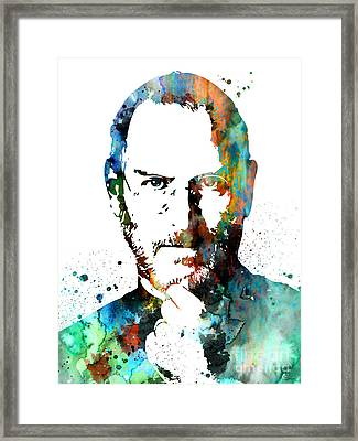 Steve Jobs Framed Print by Luke and Slavi