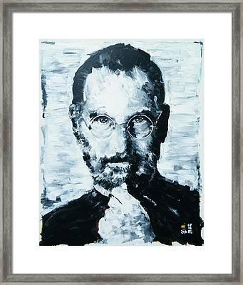 Steve Jobs Framed Print by Michael Leporati