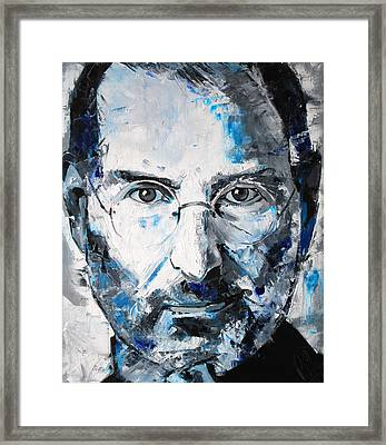 Steve Jobs Framed Print by Richard Day