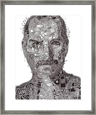 Steve Jobs Framed Print by Serafin Ureno