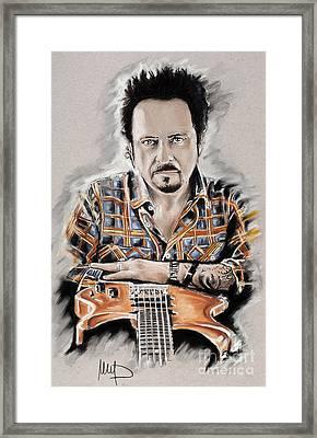 Steve Lukather Framed Print by Melanie D
