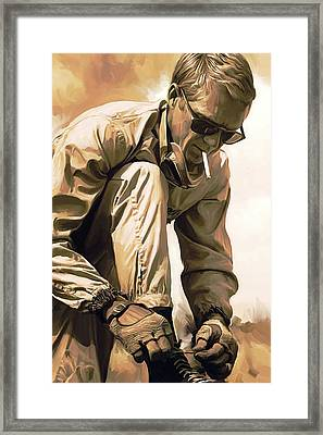 Steve Mcqueen Artwork Framed Print by Sheraz A