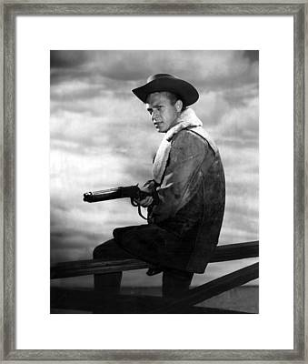 Steve Mcqueen As Cowboy Framed Print by Retro Images Archive