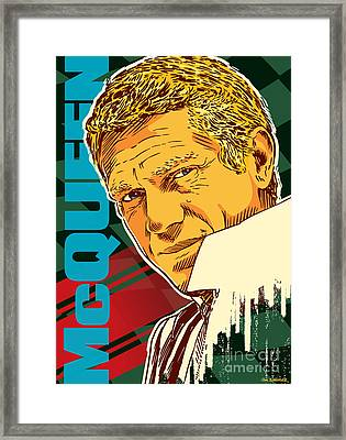 Steve Mcqueen Pop Art Framed Print by Jim Zahniser