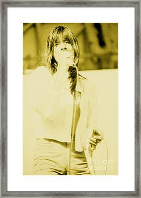Steve Perry Of Journey At Day On The Green - July 27th 1980 Framed Print