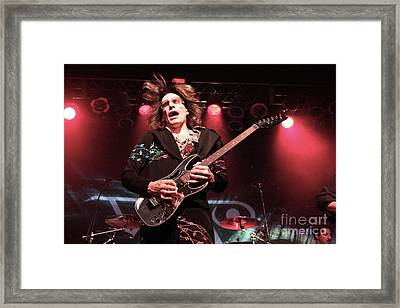 Guitarist Steve Vai Framed Print by Concert Photos