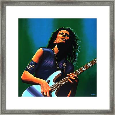 Steve Vai Framed Print by Paul Meijering