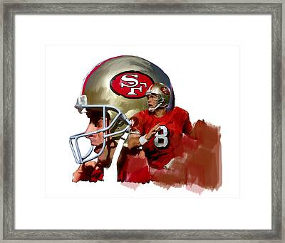 Steve Young   Framed Print by Iconic Images Art Gallery David Pucciarelli