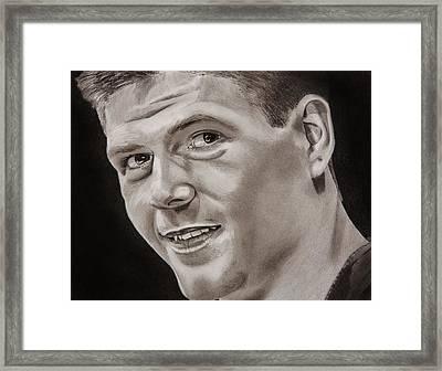 Steven Gerrard  Framed Print by Brian Broadway