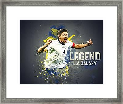 Steven Gerrard Framed Print by Taylan Apukovska