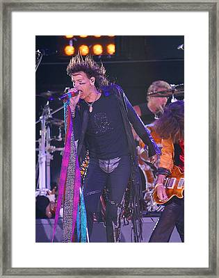 Steven Tyler Aerosmith Framed Print by Don Olea