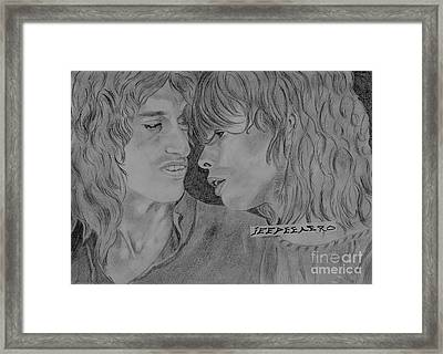 Framed Print featuring the drawing Steven Tyler And Joe Perry Image Pictures by Jeepee Aero