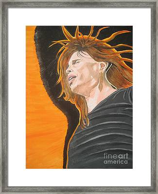 Steven Tyler Art Painting Framed Print by Jeepee Aero