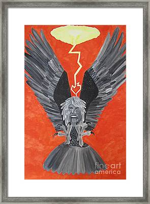 Framed Print featuring the painting Steven Tyler As An Eagle by Jeepee Aero
