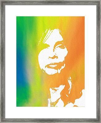 Steven Tyler Canvas Framed Print