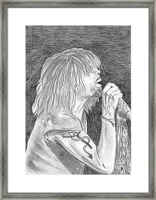 Steven Tyler Concert Drawing Framed Print by Jeepee Aero