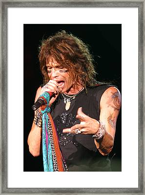 Framed Print featuring the photograph Steven Tyler by Don Olea