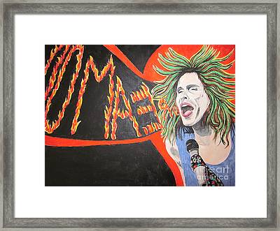 Framed Print featuring the painting Steven Tyler Dream On by Jeepee Aero
