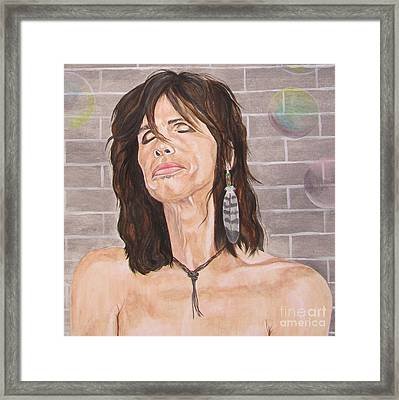 Steven Tyler Dreams On Framed Print by Jeepee Aero