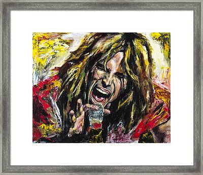 Steven Tyler Framed Print by Mark Courage