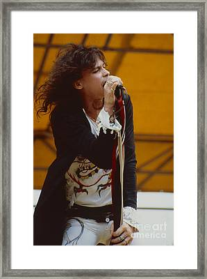 Steven Tyler Of Aerosmith At Monsters Of Rock In Oakland Ca Framed Print