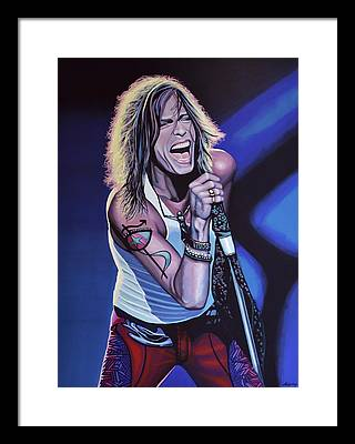 Steven Tyler Framed Prints