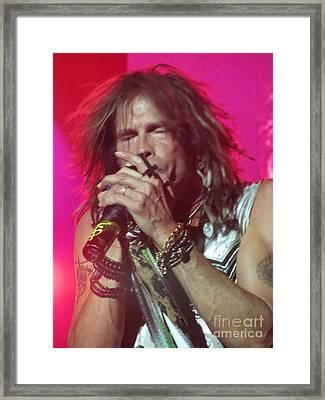 Steven Tyler Picture Framed Print