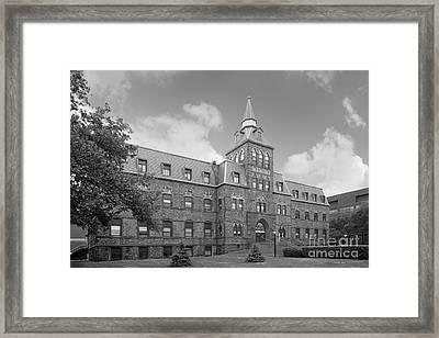 Stevens Institute Of Technology Stevens Hall Framed Print by University Icons