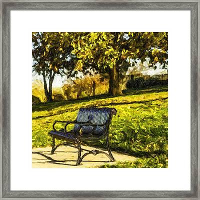 Stevens Lake Park Series 01 Framed Print by David Allen Pierson