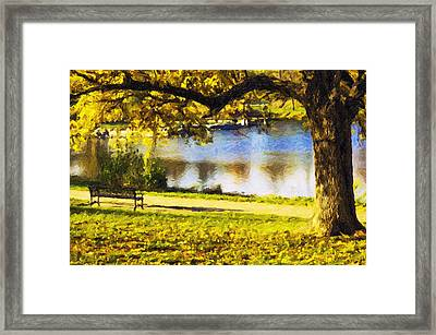 Stevens Lake Park Series 03 Framed Print by David Allen Pierson
