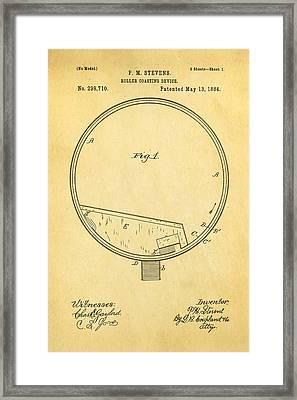 Stevens Roller Coaster Patent Art 1884 Framed Print by Ian Monk