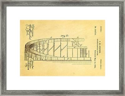 Stevens Roller Coaster Patent Art  2 1884 Framed Print by Ian Monk