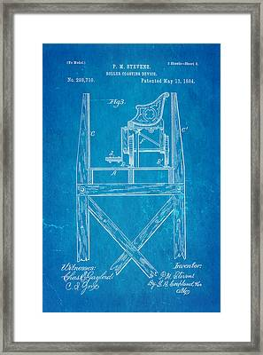 Stevens Roller Coaster Patent Art  3 1884 Blueprint Framed Print by Ian Monk
