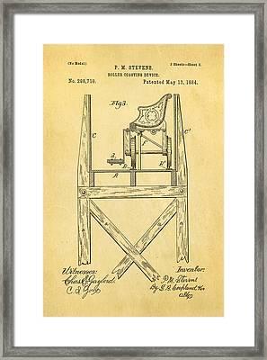 Stevens Roller Coaster Patent Art  3 1884 Framed Print by Ian Monk